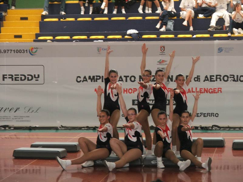 La squadra Junior A (2° classificata) formata da: Morganti Michela, Staffilani Marianna, Facciabene Greta, Rapacciuolo Federica, Rosati Federica, Bengasi Beatrice, Marinelli Alessia, Cavatassi FRancesca.